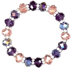 Lovely Plum Sparkles Bracelet Beaded Jewelry Making Kit