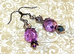 Metallic Purple Earrings Beaded Jewelry Making Kit