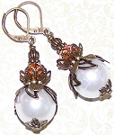 Orange Blossom Earrings Beaded Jewelry Making Kit