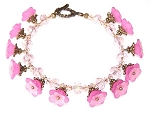 Pink Azalea Bracelet Beaded Jewelry Making Kit