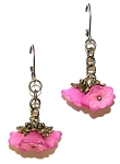Pink Azalea Earrings Beaded Jewelry Making Kit