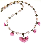 Pink Azalea Necklace Beaded Jewelry Making Kit