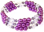 Purple Paradise Bracelet Beaded Jewelry Making Kit