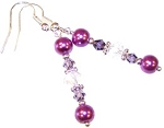 Purple Paradise Earrings Beaded Jewelry Making Kit