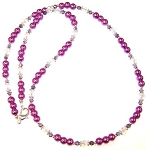 Purple Paradise Necklace Beaded Jewelry Making Kit
