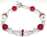 Raspberry Delight Bracelet Beaded Jewelry Making Kit