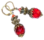 Regal Ruby Red Earrings Beaded Jewelry Making Kit
