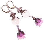 Roses in Bloom Earrings Beaded Jewelry Making Kit