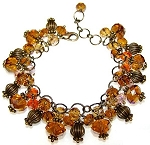 Shimmering Bronze Bracelet Beaded Jewelry Making Kit