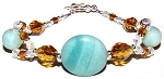 Sparkling Amazonite Bracelet Beaded Jewelry Making Kit