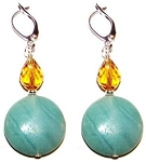 Sparkling Amazonite Earrings Beaded Jewelry Making Kit