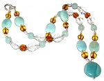 Sparkling Amazonite Necklace Beaded Jewelry Making Kit