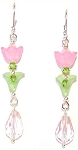 Sparkling Tulip Earrings Beaded Jewelry Making Kit