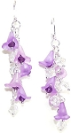 Sparkling Wisteria Earrings Beaded Jewelry Making Kit