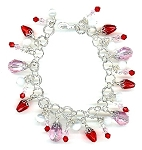 Strawberries & Cream Bracelet Beaded Jewelry Making Kit