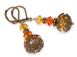 SunBurst Delight Earrings Beaded Jewelry Making Kit