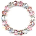 Sweet Pink Sparkles Bracelet Beaded Jewelry Making Kit