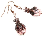 Vintage Rose Earrings Beaded Jewelry Making Kit