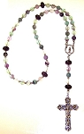 Fluorite and Amethyst Beaded Rosary Making Kit