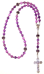 Purple Lace Beaded Rosary Making Kit