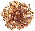 7.5 Grams of MiniDuo Czech Glass Beads - Crystal Celsian