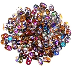 7.5 Grams of MiniDuo Czech Glass Beads - Crystal Magic Copper