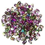 7.5 Grams of MiniDuo Czech Glass Beads - Magic Violet Green