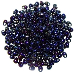 Miyuki Glass Fringe Drop Beads - Metallic Blue Iris - Drop-452