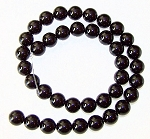 1 Dozen Black Onyx 10mm Round Semiprecious Gemstone Beads