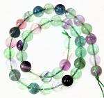 1 Dozen Fluorite 10mm Round Semiprecious Gemstone Beads