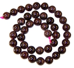 1 Dozen Garnet 10mm Round Semiprecious Gemstone Beads