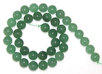 1 Dozen Aventurine 10mm Round Semiprecious Gemstone Beads
