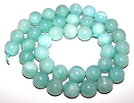 1 Dozen Amazonite 10mm Round Semiprecious Gemstone Beads