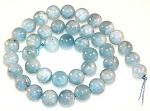 1 Dozen Aquamarine 10mm Round Semiprecious Gemstone Beads