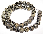 1 Strand of Dalmatian Jasper 10mm Round Semiprecious Gemstone Beads