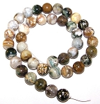 1 Dozen Ocean Jasper 10mm Round Semiprecious Gemstone Beads