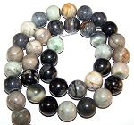 1 Strand of Picasso Jasper 10mm Round Semiprecious Gemstone Beads
