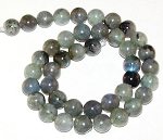1 Dozen Labradorite 10mm Round Semiprecious Gemstone Beads