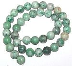 1 Dozen Qinghai Jade 10mm Round Semiprecious Gemstone Beads