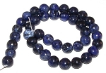 1 Dozen Sodalite 10mm Round Semiprecious Gemstone Beads
