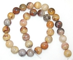 6 Crazy Lace Agate 12mm Round Semiprecious Gemstone Beads