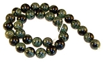 6 Kambara Jasper 12mm Round Semiprecious Gemstone Beads
