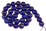 6 Lapis Lazuli 12mm Round Semiprecious Gemstone Beads