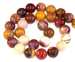6 Moukaite Jasper 12mm Round Semiprecious Gemstone Beads