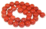 6 Red Jasper 12mm Round Semiprecious Gemstone Beads