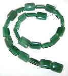 1 Strand of 12x16mm Puff Rectangle Semiprecious Gemstone Beads - Aventurine