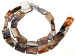 6 - 12x16mm Puff Rectangle Semiprecious Gemstone Beads - Picasso Jasper