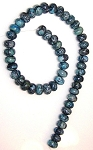 1 Strand of Blue Picasso Jasper 12x8mm Puff Rondelles