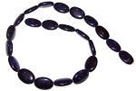 6 - 13x18mm Puff Oval Semiprecious Gemstone Beads - Blue Goldstone