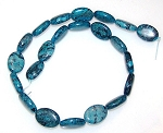 6 Blue Picasso Jasper 13x18 Puff Oval Semiprecious Gemstone Beads